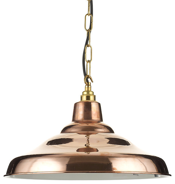 Kitchen ceiling lights john lewis : Davey factory ceiling light copper industrial pendant