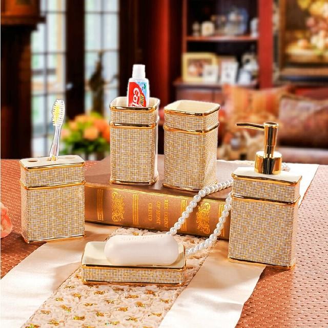 Home Decor Bathroom Accessory : Home decor ceramic bathroom sets accessories
