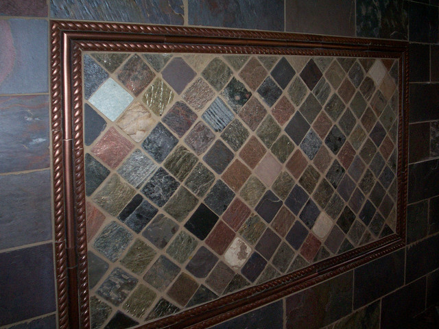 Slate Tile Backsplash Traditional Tile Cleveland By Architectural Justice