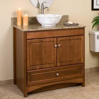 36 treemont vessel sink vanity traditional bathroom