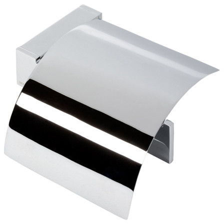 Chrome Toilet Roll Holder With Cover Contemporary