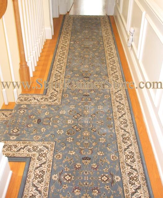 "Long Size Runner Hallway Entrance Carpet For Stairway: Custom Fabrication ""T"" Landing Hallway"