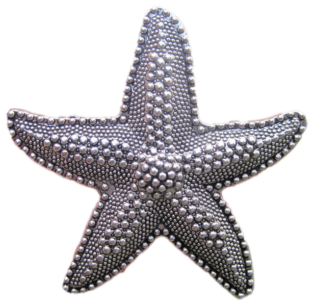 Beach House Starfish Drawer Knobs - Beach Style - Cabinet ...