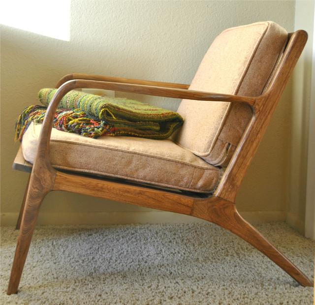 Danish Mid Century Teak Lounge Chair Mid Century