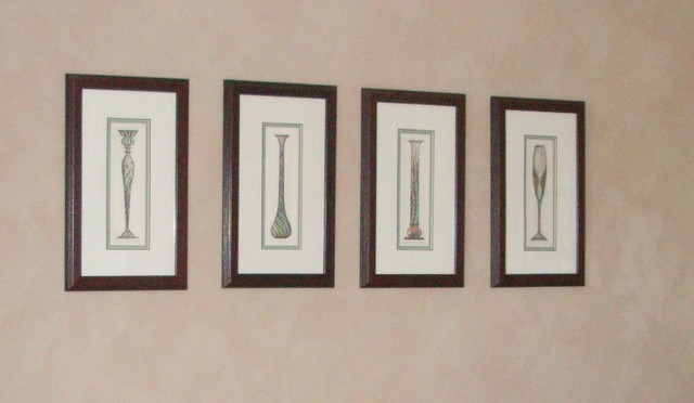 Dining Room Picture Frames Mahogany Frame Grouping