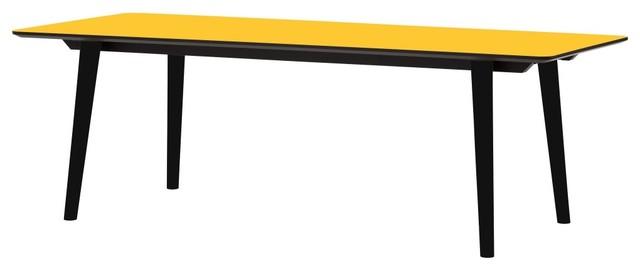 tisch helvig schwarz gelb 220x95 cm moderne table manger par fashion4home gmbh. Black Bedroom Furniture Sets. Home Design Ideas