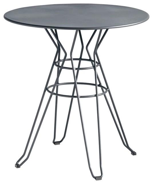 Table de jardin design ronde d90 alameda couleur gris - Table de jardin moderne ...