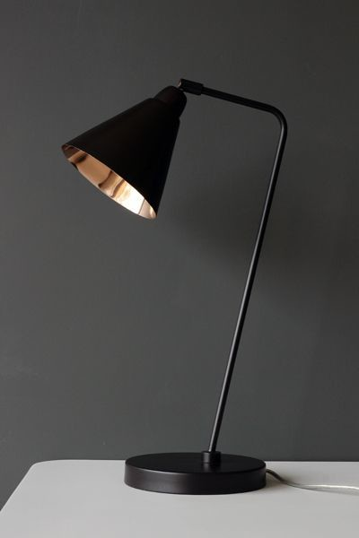 Industrial style brown and copper desk lamp for Cool bedside lights