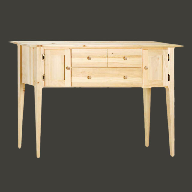 Traditional Pine Coffee Table: Sideboards UnFinished Pine 56'' W Sideboard