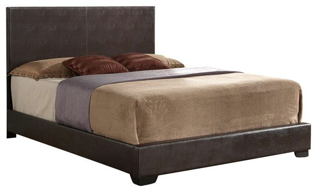 Ireland Collection Brown Leather Like Padded Headboard Footboard
