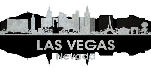 Las Vegas NV and White Concrete Jungle Print