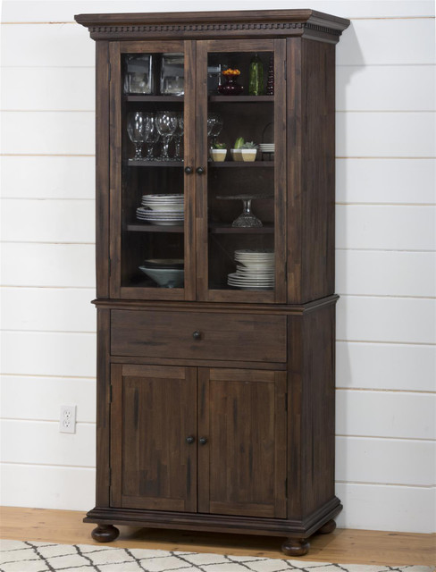 Jofran Geneva Hills Small Space China Cabinet Modern