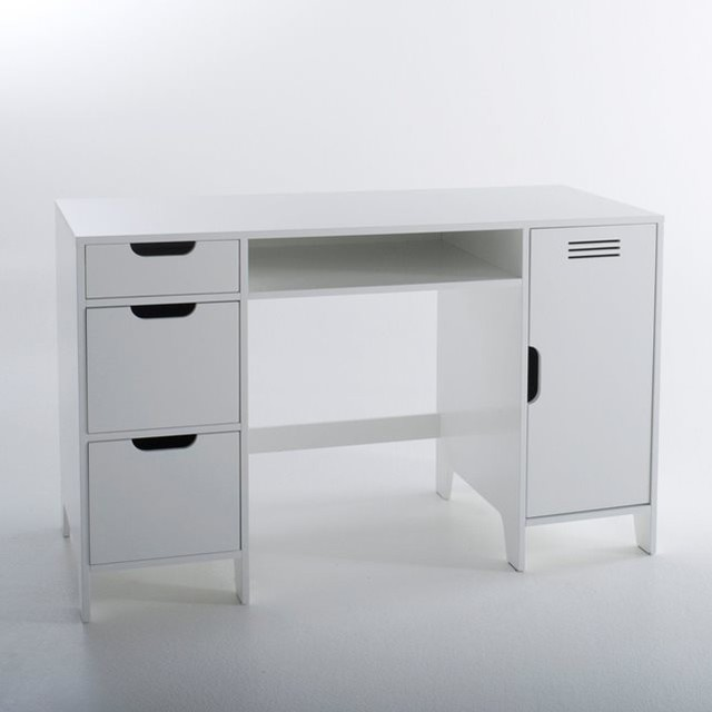 bureau enfant double caisson asper contemporain meuble bureau et secr taire. Black Bedroom Furniture Sets. Home Design Ideas