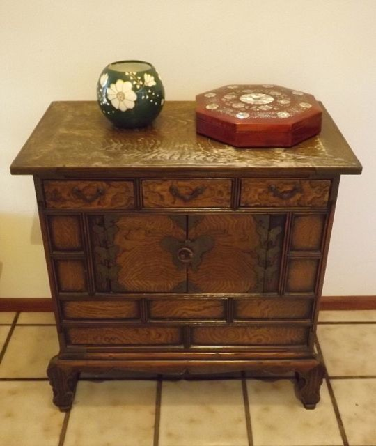 Vintage chinese chest w butterfly hardware asian for Oriental furniture los angeles