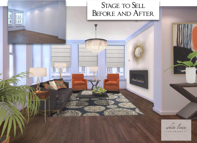 before and after home staging 3d renderings contemporary miami by white linen interiors llc. Black Bedroom Furniture Sets. Home Design Ideas