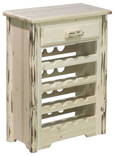 Montana Unfinished Wine Cabinet Traditional Wine And Bar Cabinets