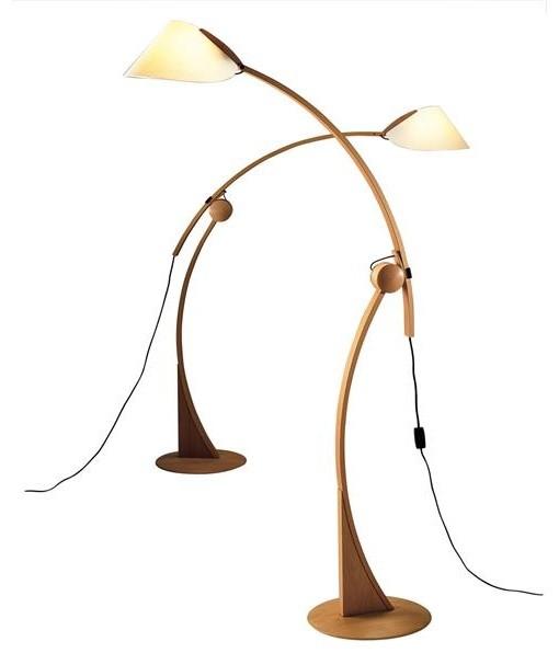 Wooden Floor Lamp Designs : ... Design DOM-8003 Apollo Beech Wood Floor Lamp Domus Collection floor