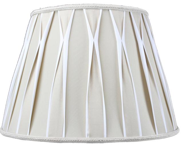 Beige and white premium lampshade contemporain abat for Abat jour contemporain