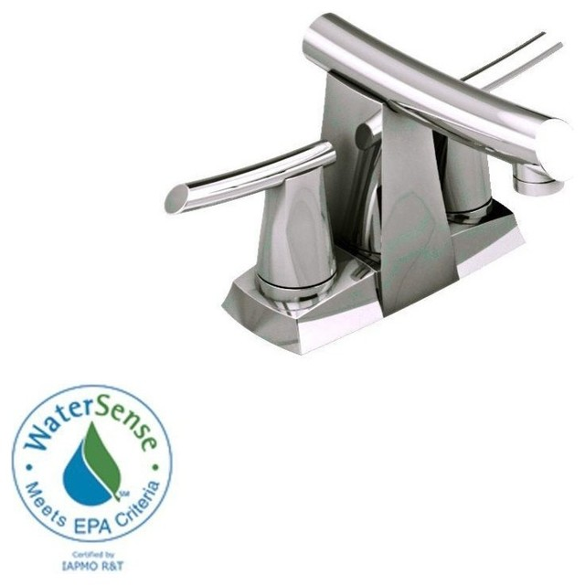 Green Tea 4 2 Handle Low Arc Bathroom Faucet In Satin Nickel Pull Out