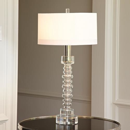Global Views Clear Glass Ribbed Lamp Traditional Table Lamps By Candelabra