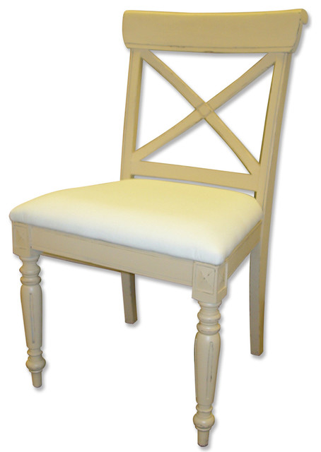 Coastal Cross Back Side Chair - Beach Style - Dining Chairs - by Custom Furniture World