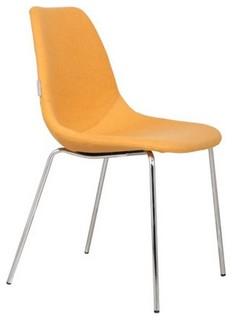 Chaise zuiver fifteen jaune avec pieds chrom - Chaise avec repose pied ...
