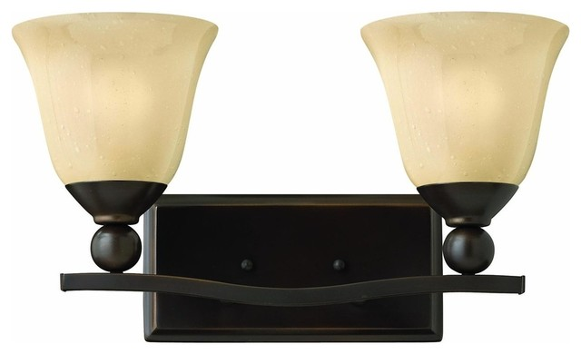 5892ob bolla bath vanity light olde bronze champagne - Champagne bronze bathroom vanity light ...