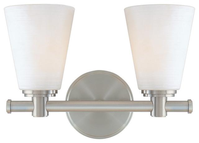 Transitional Bathroom Vanity Lights : Hudson Valley Lighting 1842-PN 120 2 Light Bath And Vanity - Transitional - Bathroom Vanity ...