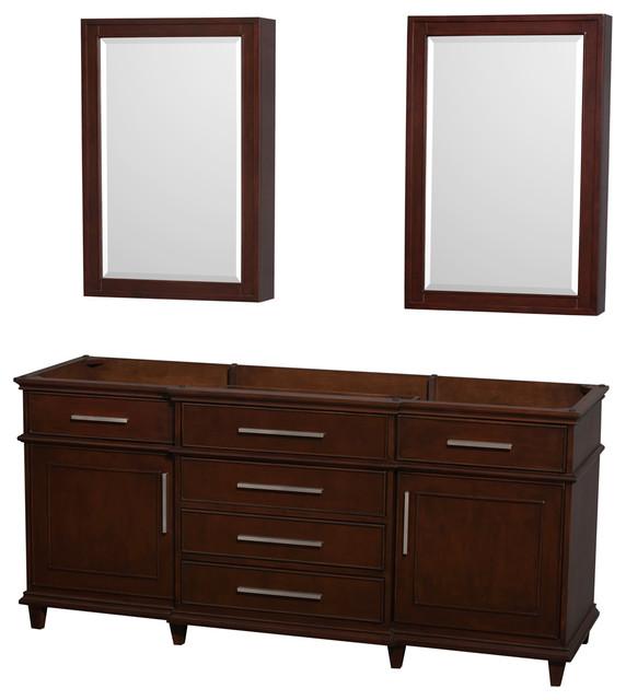 Berkeley Two Double Vanity No Countertop No Sinks