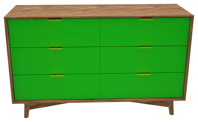 the beverly bureau green midcentury chests of drawers other metro by seed furniture. Black Bedroom Furniture Sets. Home Design Ideas