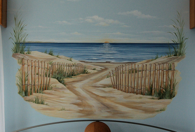Beach mural boston by macmurraydesigns for Beach mural for wall