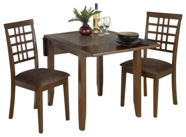 976 caleb brown 3 piece double drop leaf dining room set dining sets