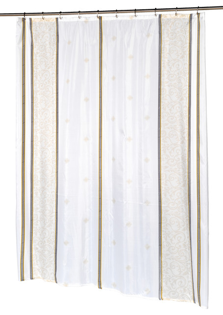Extra Long Ashley Fabric Shower Curtain