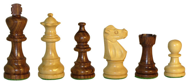 Small Sheesham French Chessmen, 32-Piece Set - Traditional - Board Games And Card Games - by ...