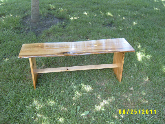 Wooden Bench by Wayne's Woodworking - Traditional - Outdoor Benches - by Etsy