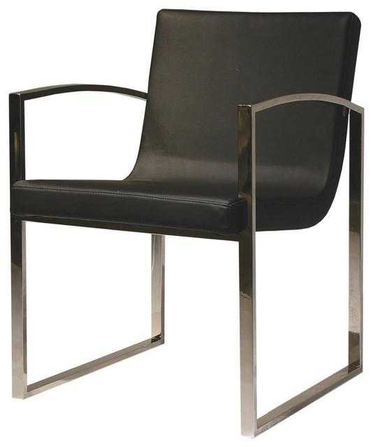 Clara dining chair in black leather by nuevo hgta408 for Lo ultimo en sillas de comedor
