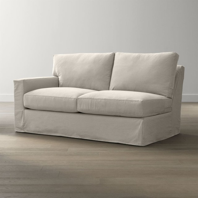 Slipcover only for axis ii left arm sectional full sleeper for Sofa with only one arm