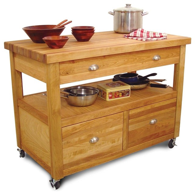 The Grand Americana Worckcenter With Drawers And Casters