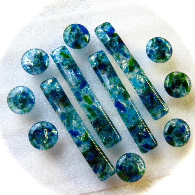 """Torch Lake"" glass knobs handles and pulls for cabinets and furniture beach-style-cabinet-and ..."