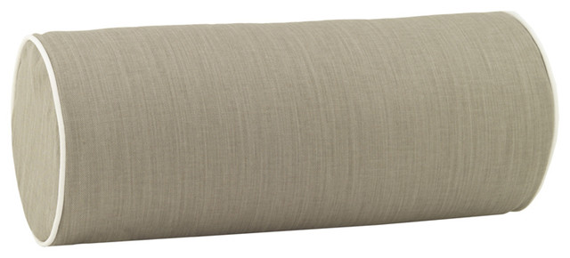 Modern Bolster Pillows : Bolster Pillow in Taupe - Modern - Decorative Cushions - by Rosenberry Rooms