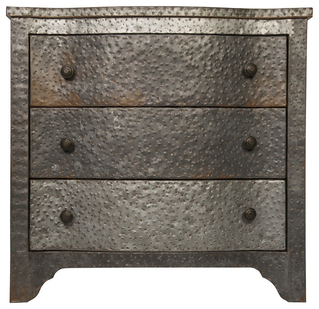 Metal Chest Industrial Accent Chests And Cabinets