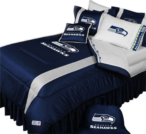 Najarian Nba Youth Bedroom In A Box: NFL Seattle Seahawks Comforter Pillowcase Football Bedding
