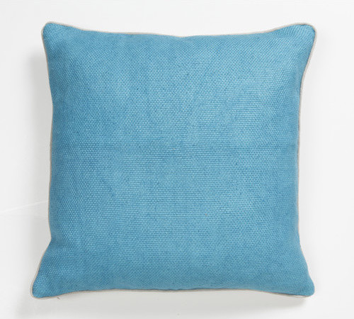 Solid Textures Linen Willow Basket Weave Accent Pillow - Modern - Scatter Cushions
