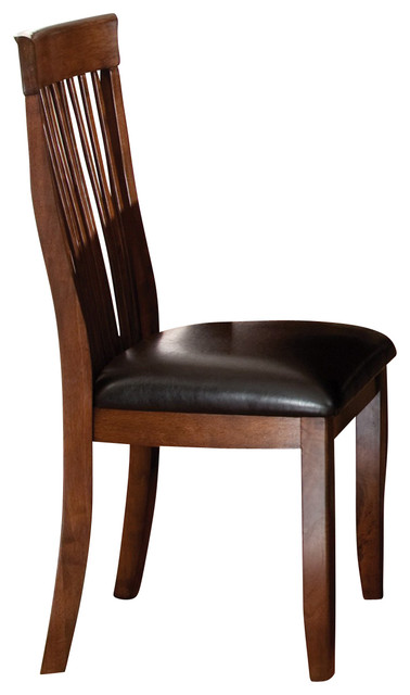 chair in sienna brown set of 2 traditional dining chairs by
