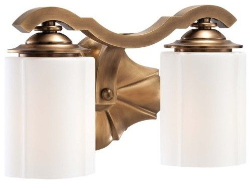 Bathroom Vanity Lights Traditional : Metropolitan N2942-575 Leicester 2 Light 12.25
