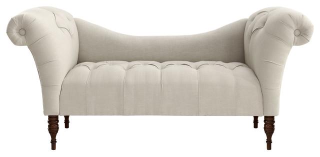 cameron tufted chaise talc contemporain banc capitonn par one kings lane. Black Bedroom Furniture Sets. Home Design Ideas