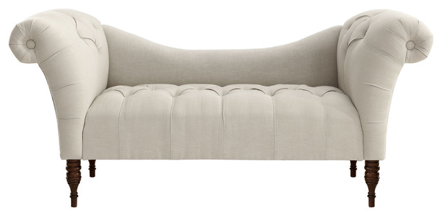 cameron tufted chaise talc contemporary upholstered