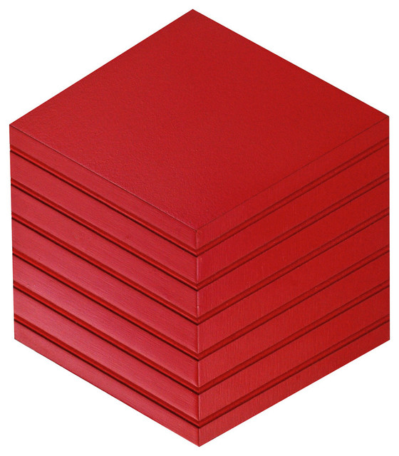 Bright Red Wall Tile With Grooves Modern Home Accessories Decor B