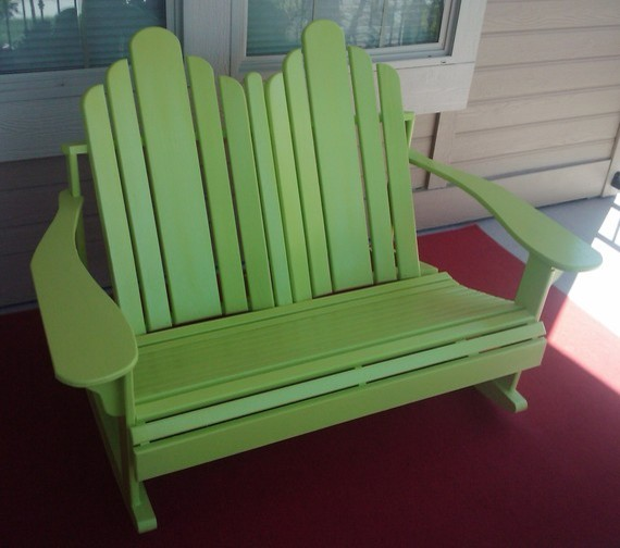 Seat Rocker By Our Whimsical Garden Modern Adirondack Chairs By Etsy