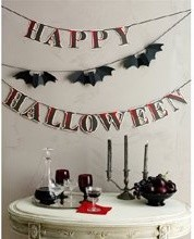 Martha Stewart Happy Halloween Bat Garland - Traditional - Wreaths And Garlands - by Martha Stewart